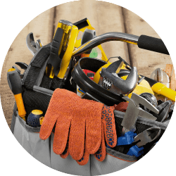 Construction Tools in Bag
