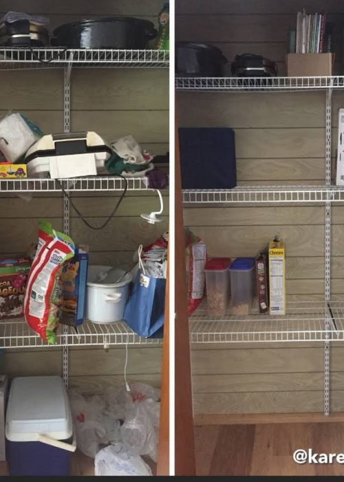Cleaning Kitchen Pantry Before and After